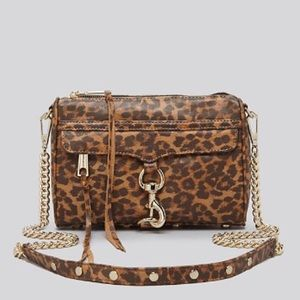 REBECCA MINKOFF leopard mini Mac